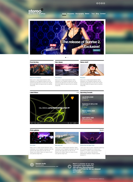 StereoSquared Music Wordpress Theme